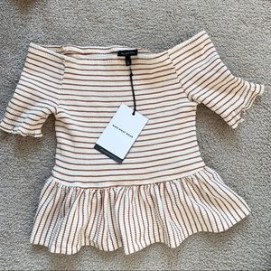 NWT Who What Wear off the shoulder top